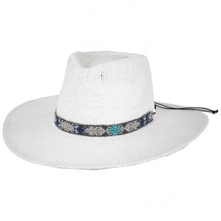 Nikki Beach Aspen Toyo Straw Fedora Hat