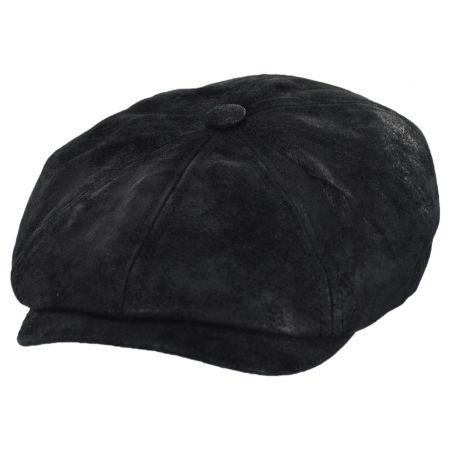 Pigskin Distressed Leather Newsboy Cap