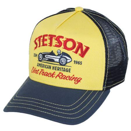 Stetson Dirt Track Racing Mesh Trucker Snapback Baseball Cap
