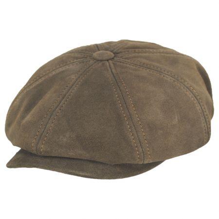 Stetson Calf Leather Newsboy Cap