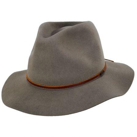 Brixton Hats Wesley Khaki Packable Wool Felt Fedora Hat