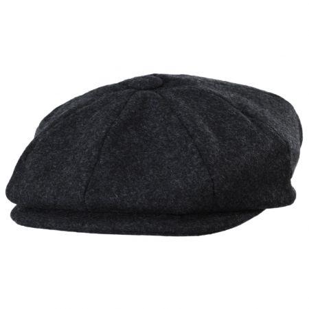 Baskerville Hat Company Grantham Melange Wool Newsboy Cap