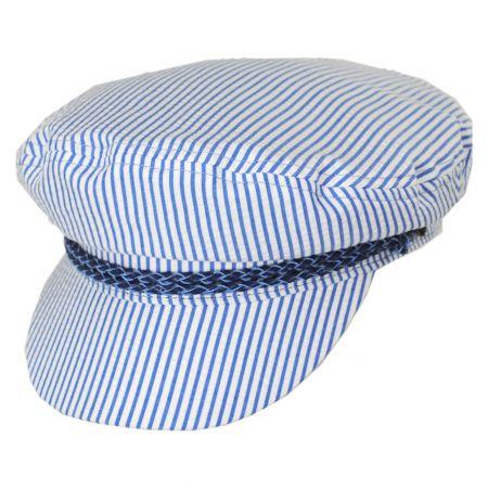 Ashland Slate Stripe Cotton and Linen Blend Fiddler's Cap alternate view 7