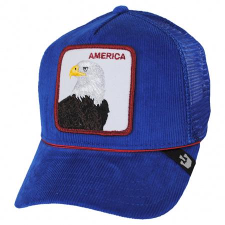 Goorin Bros America Cord Mesh Trucker Snapback Baseball Cap