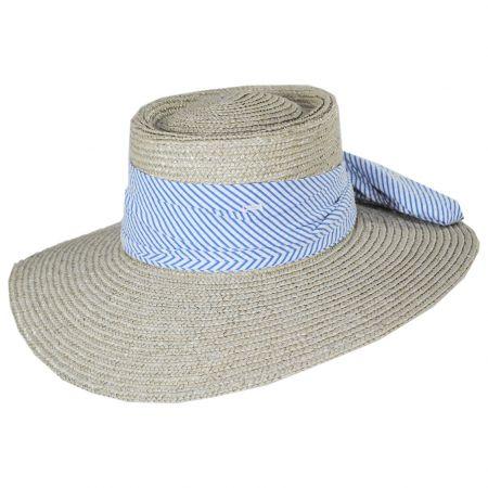 Brixton Hats Aries Wide Brim Wheat Straw Boater Sun Hat