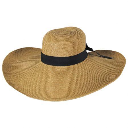 Jeanne Simmons Extra Wide Brim Toyo Straw Blend Swinger Hat