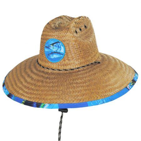 Peter Grimm Tuna Coconut Straw Lifeguard Hat