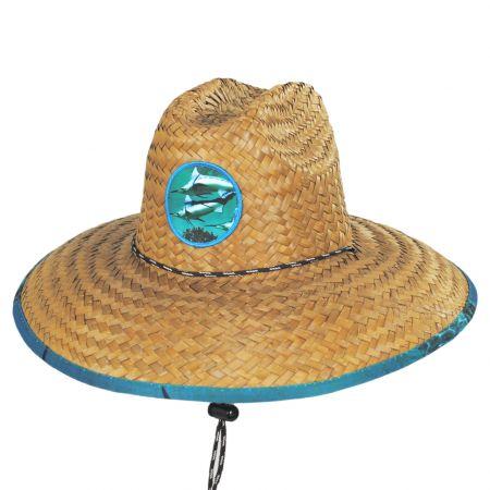 Marlin Coconut Straw Lifeguard Hat