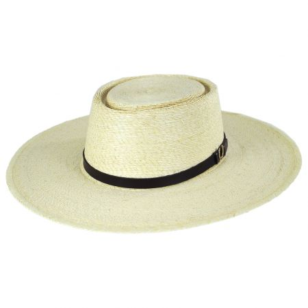 Los Dos Palm Straw Buckaroo Gambler Hat
