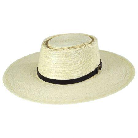 Seager Los Dos Palm Straw Buckaroo Gambler Hat