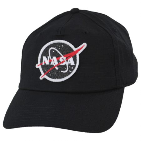 American Needle NASA Surplus Ripstop 5 Panel Mid Pro Cotton Snapback Baseball Cap