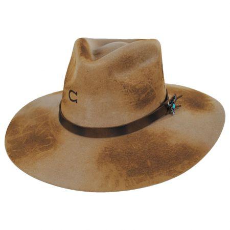 Lakota Distressed Wool Felt Western Hat
