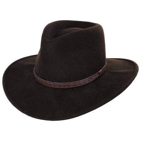 Sturgis Crushable Wool Felt Earflap Outback Hat alternate view 11
