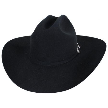 Resistol George Strait Collection City Limits Black 6X Fur Felt Western Hat - Made to Order