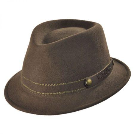 Roll Up Wool Felt Fedora Hat