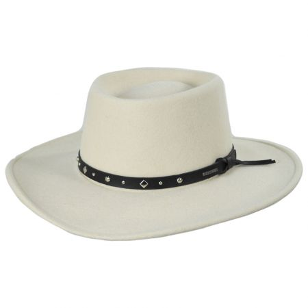 Black Hawk Silverbelly Crushable Wool Felt Gambler Cowboy Hat alternate view 5