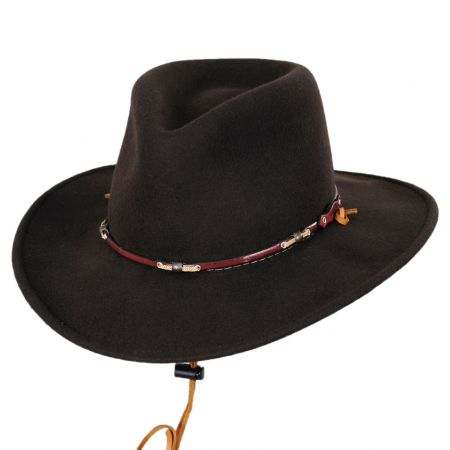 Stetson Wildwood Crushable Wool Felt Outback Hat