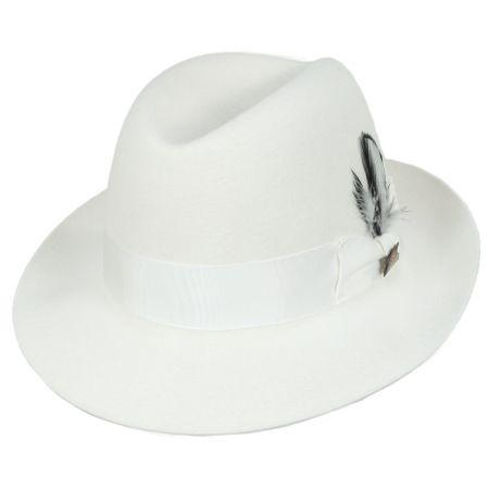 Chicago White Fur Felt Fedora Hat