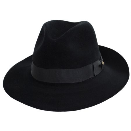 Obsidian Beaver/Chinchilla Fur Felt Fedora Hat and Traveling Case alternate view 17