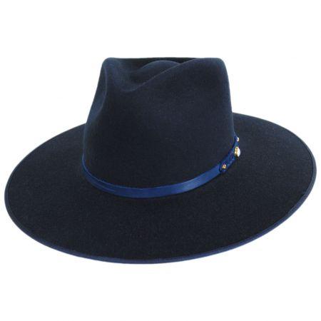 Night Sky B Wool Felt Fedora Hat