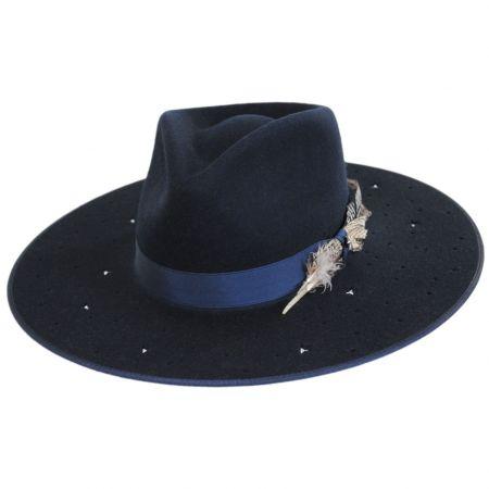 Night Sky S Wide Brim Wool Felt Fedora Hat