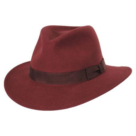 Curtis Wool Felt Safari Fedora Hat