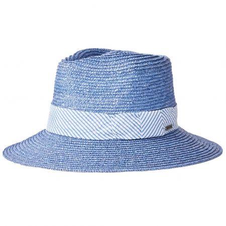 Brixton Hats Joanna Petite Brim Wheat Straw Fedora Hat