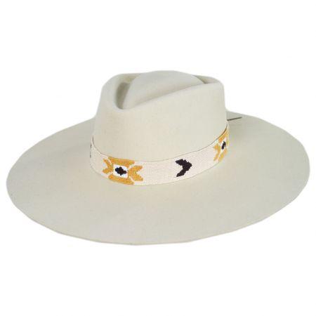 Sol Wide Brim Wool Felt Fedora Hat