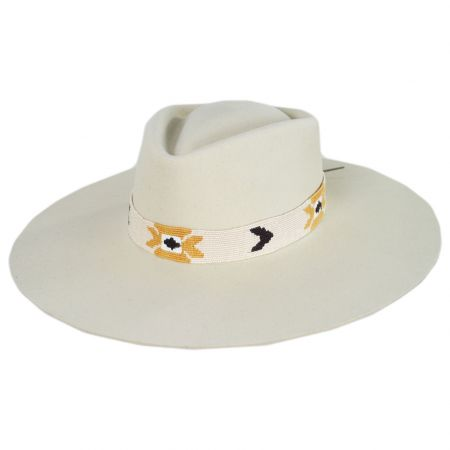 Sol Wide Brim Wool Felt Fedora Hat alternate view 9