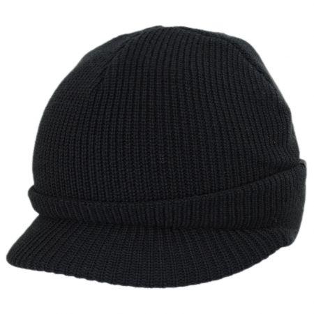 Sliced Peak Billed Beanie Hat