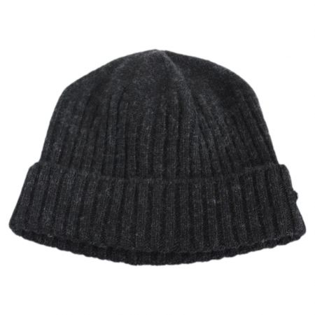 Pull-On Lambswool Beanie Hat
