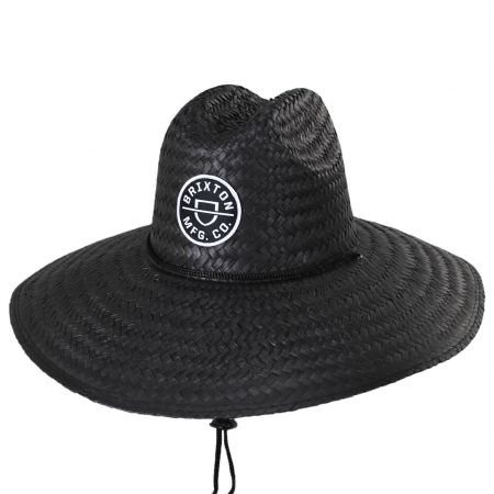 Crest Palm Leaf Straw Lifeguard Hat