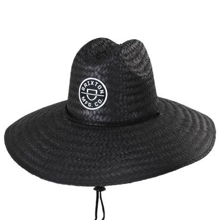 Brixton Hats Crest Palm Leaf Straw Lifeguard Hat