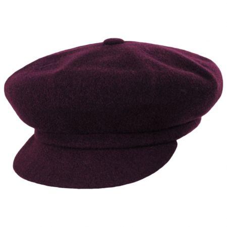 Kangol Spitfire Wine Wool Newsboy Cap