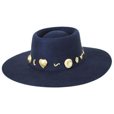 Cosmic Wool Felt Boater Hat