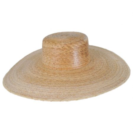 Palma Ultra Wide Palm Straw Boater Hat