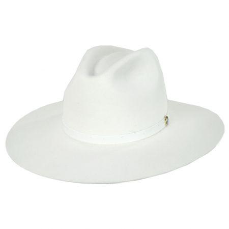 Luna Wide Brim Fur Felt Fedora Hat