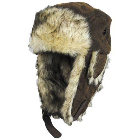 Dorfman Pacific Company Winter Vegan Leather Trapper Hat
