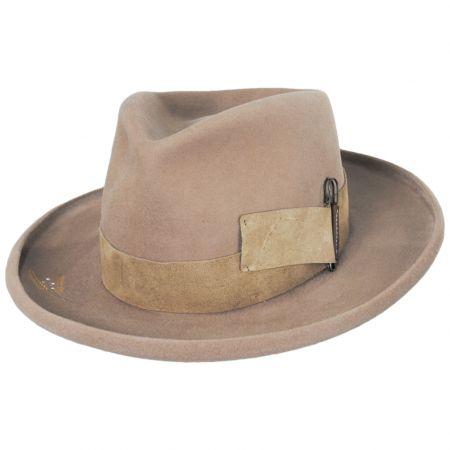Casville Pencil Curl Brim Wool Felt Fedora Hat