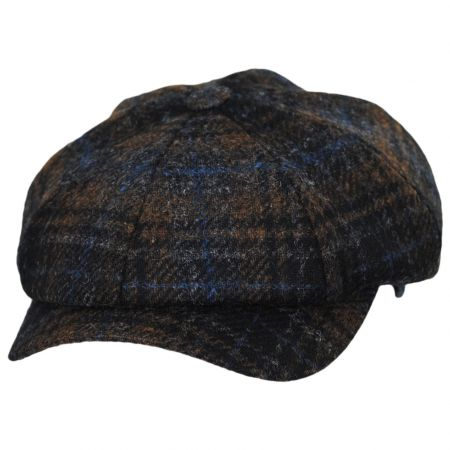 Wigens Caps Mallalieus Tartan British Wool Newsboy Cap