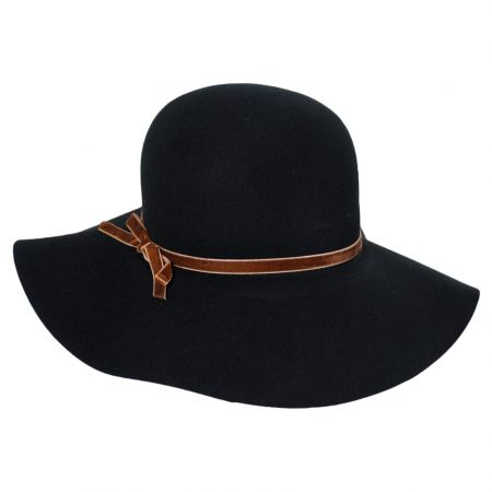 sur la tete Vintage Wool Felt Floppy Hat