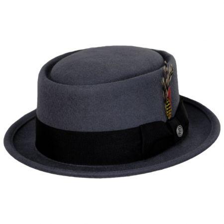 Jaxon Hats Gray Wool Felt Pork Pie Hat