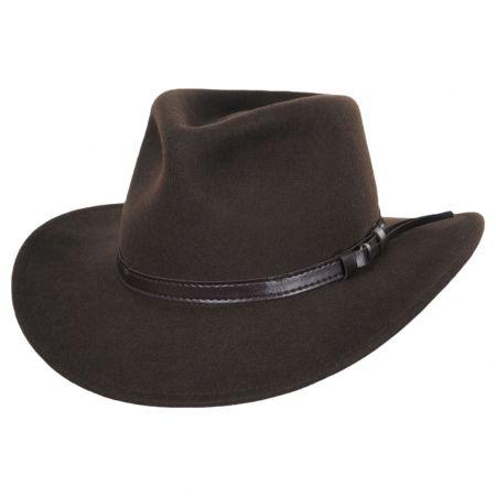 Jaxon Hats Olive Green Crushable Wool Felt Outback Hat