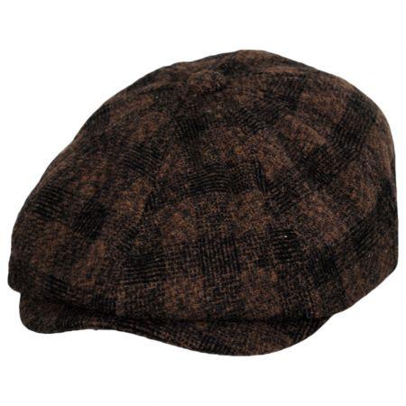 Brixton Hats Brood Plaid Wool Blend Newsboy Cap