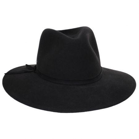 Mireille Wide Brim LiteFelt Wool Fedora Hat alternate view 9