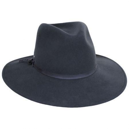 Betmar Mireille Wide Brim LiteFelt Wool Fedora Hat