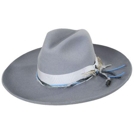 Oceanus Wide Brim Wool Felt Fedora Hat