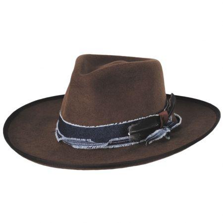Talpa Wide Brim Wool Felt Fedora Hat