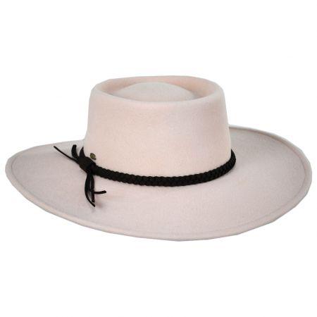 Scala Avondale Wool Felt Boater Hat