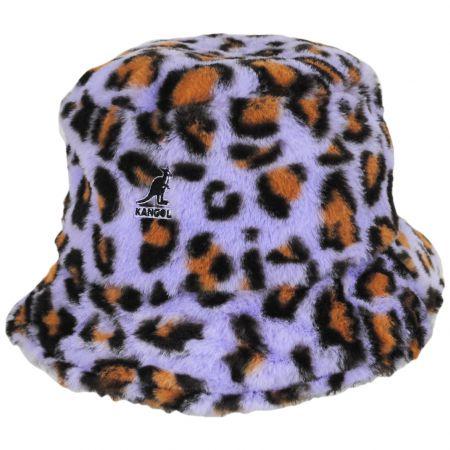 Kangol Leopard Faux Fur Bucket Hat